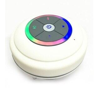 Image 5 - Su geçirmez Bluetooth LED duş hoparlör FM radyo TF kart okuyucu kontrol düğmeleri hoparlör güçlü vantuz açık