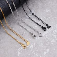 Ожерелье из нержавеющей стали с сингапурской цепью 2 мм золотистый/Черный