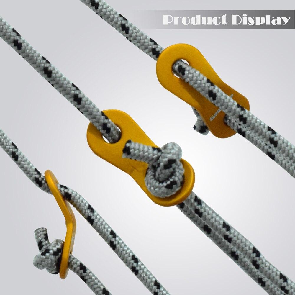 GeerTop Замена веревка для палатки 13 футов 5 мм Guy Line с алюминиевым Натяжителем для натяжителя для кемпинга походные аксессуары оборудование для улицы
