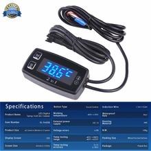 Runleader LED Digital TM008 thermometer voltmeter temperature meter for pit bike ATV outboard glider lawn mower boat marine стоимость