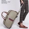 Men leather retro suitcase hand rolling luggage handbagage travel bag