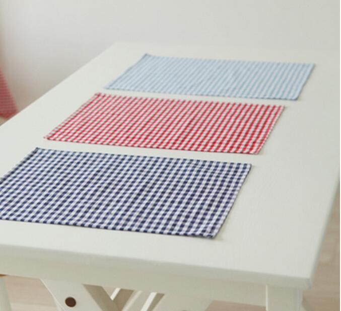 3pcs/lot Linen Cotton Napkin Coaster Placemat Fabric Dining Table Mats Cotton Table Pad Coaster Table Decoration Kitchen wares