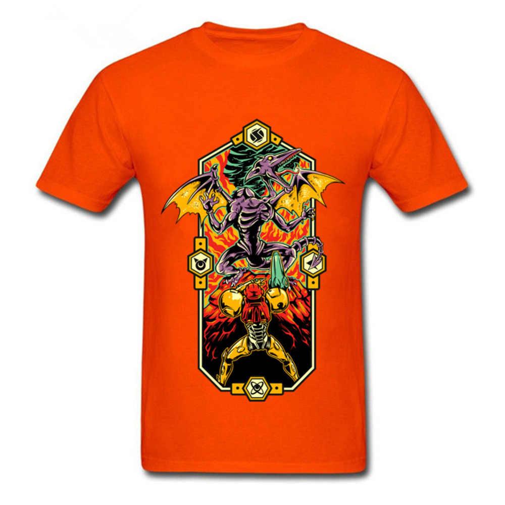 2018 новейшие модные Для мужчин футболки мужской Epic Метроид футболка в стиле панк-рок Арт Черный Топы для человека Супер Метроид короткие Забавный человек футболки
