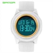 SANDA 2018 Sports Wrist Watch Women Watches Ladies Light Thin Digital Watch For Female Waterproof Clock New Montres Femme Saat