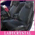 Ladycrystal personalizado de luxo pu de couro estilo do carro tampas de assento para bmw para benz para audi tampa de assento do carro de cristal de diamante