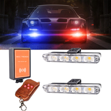 Wireless Remote Controller LED Strobe Light 12V Car Trucks Flash Police 2x4 Ambulance Emergency Flasher Warning Lights