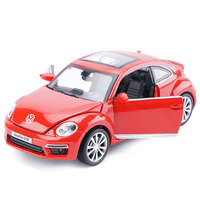 1 32 Volkswagen Beetle Cars Model High Simulation Diecast Alloy Toy Metal Cars With Light Sound