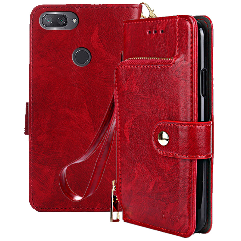 Case For Xiaomi Mi 8 lite Case soft PU Wallet Luxury For Xiaomi mi 8 lite Cases Leather Flip Kickstand Coque Cover in Wallet Cases from Cellphones Telecommunications