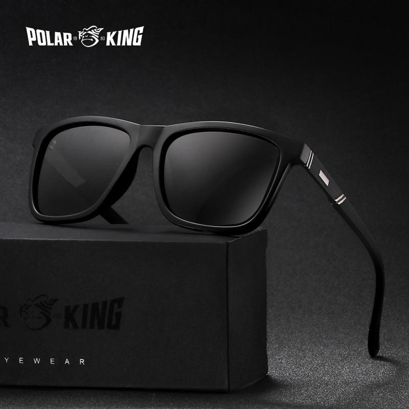 POLARKING Brand New Polarized Sunglasses For Men Fashion Square Night Vision Eyewear Men's Travel Sun Glasses Oculos de sol