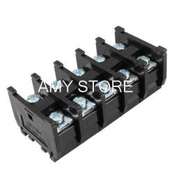 Podwójny rząd 5 pozycji pokryte zacisk śrubowy Strip czarna 600V 60A terminal block strip terminalstripped screw -