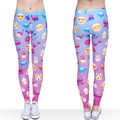 Emoji Leggings Women Girl Funny 3d Pink  Fitness Leggings