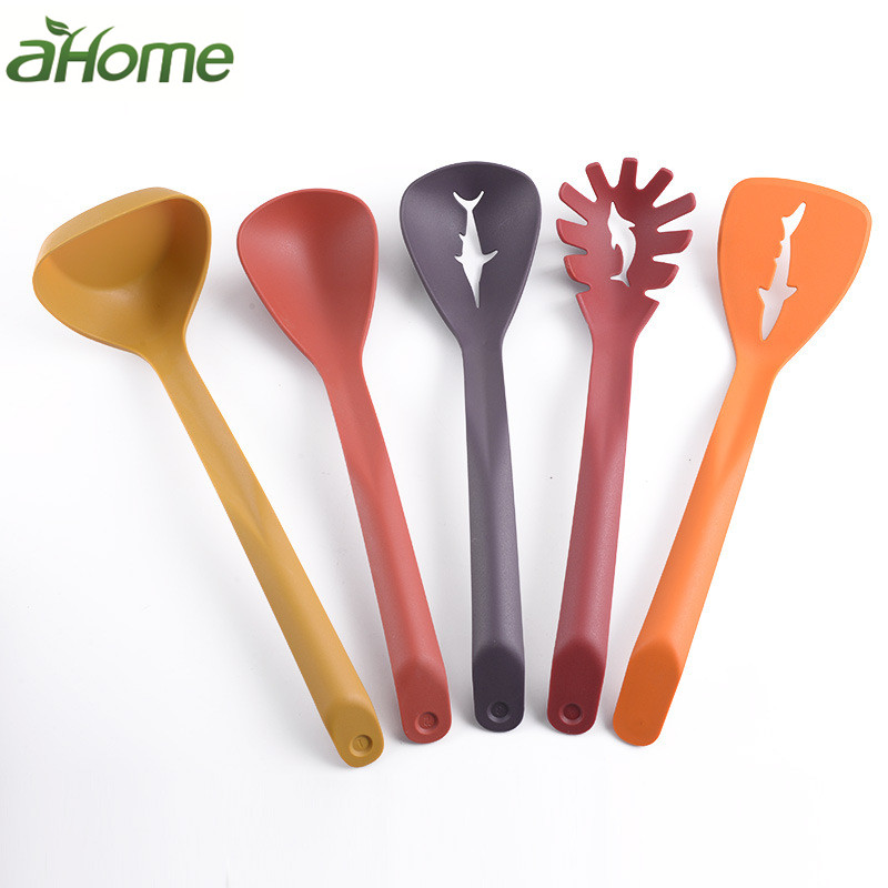 Nylon Kitchenware 5 Piece Set Nonstick Cookware High Temperature Resistant Pasta Cooking Spoon Shovel Kitchen Gadgets