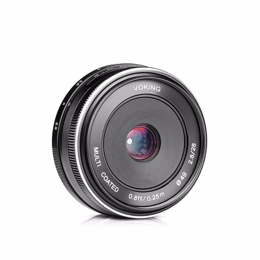 VOKING VK 28mm f 2 8 Fixed Manual Focus Lens for Olympus Micro 4 3 EM10