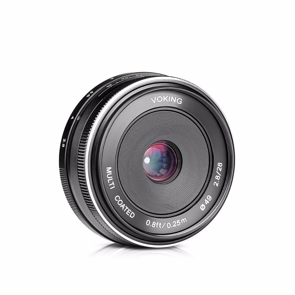 VOKING VK-28mm f/2.8 Fixed Manual Focus Lens for Olympus Panasonic M4/3 System APS-C Mirrorless Camera EM1 M10 EP5 EP-L3 PEN-7 35mm f1 7 cctv lens macro rings c m4 3 adapter ring set for olympus panasonic silver
