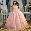 Encantadora de lujo Boat Neck vestido de Bola Vestidos de Baile 2017 Largo prom dress vestidos de fiesta elegante vestido de fiesta de noche elegante vestido