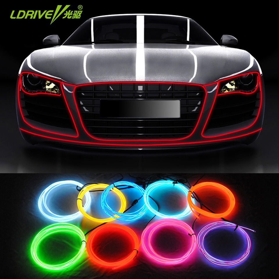 atmosphere car interior light 1 meter car ambient light lamps cold light line diy car styling. Black Bedroom Furniture Sets. Home Design Ideas