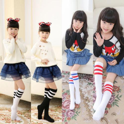 09c67b97ad4 Emmababy Autumn Winter Warm Kids Knee High Socks For Girls Boys Football  Striped School Socks