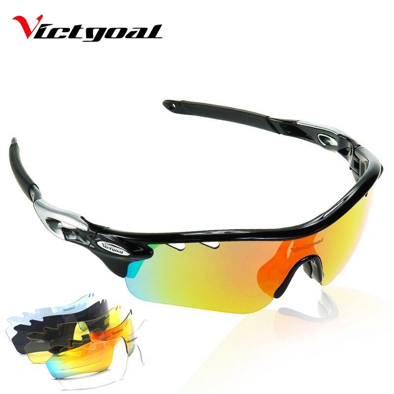 VICTGOAL Polarisées Vélo Lunettes UV400 Protéger Vélo Hommes Femmes lunettes de Soleil de Course Vélo Vélo de Pêche Lunettes 5 Len Lunettes