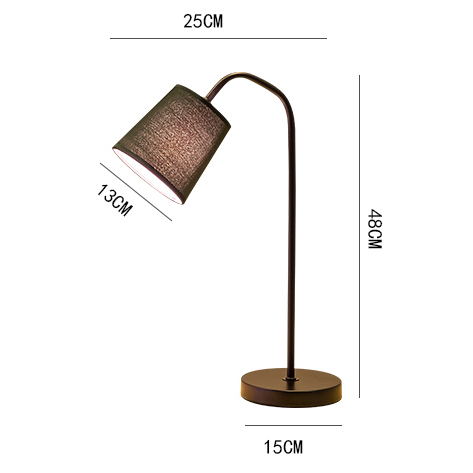 Toolery table lamps modern simple foyer bedroom bedside table lights iron art lamp body cloth lampshade black white reading lamp