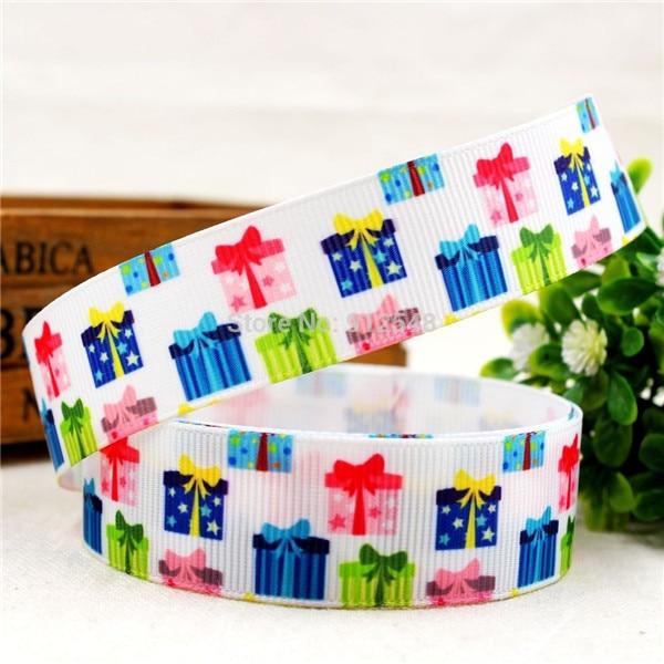 1 ''(25 мм) Рождественская, Печать оленей Grosgrain ленты из полиэстера, с рисунком, с тесьмой и аксессуар в стиле «haribow» подарочная упаковка, md71416 - Цвет: 8