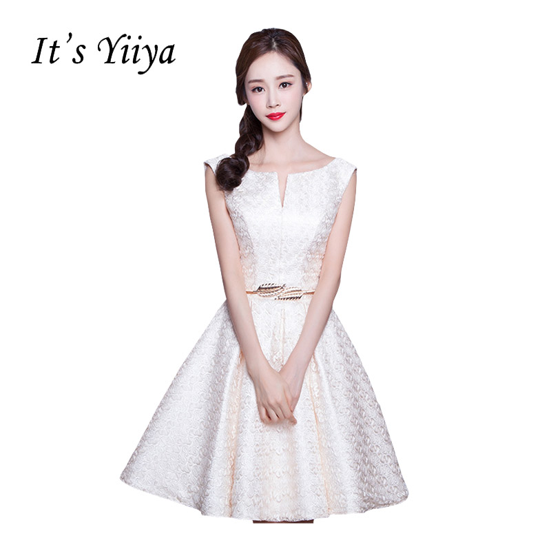 It's Yiiya 2017 New Square Collar Sleeveless Taffeta A-Line Lace   Cocktail     Dresses   Flower Princess Mini Party Formal   Dress   X143