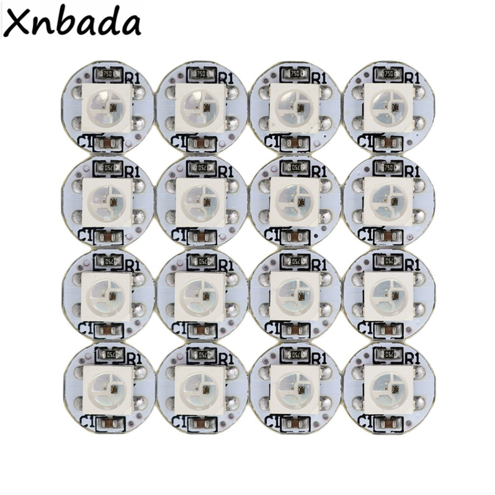 10~1000PCS WS2812B WS2812 4-Pin Led Chip Strip&Heatsink DC5V 5050SMD RGB WS2811 IC Built-in