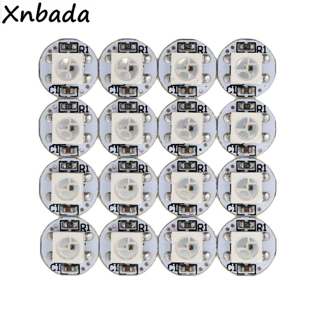 10 ~ 1000 шт. WS2812B WS2812 4-контактный светодиодный чип и радиатор DC5V 5050SMD RGB WS2811 IC встроенный