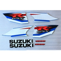 High Quality Motorcycle 3M Adhesive Printing Whole Car Decal Stickers For Suzuki GSXR GSX-1000R K9 2009 2010 Blue Fairing