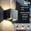 Внутреннее и наружное освещение водонепроницаемый IP65 квадратный/круглый Led бра лампы регулируемый угол света алюминиевый настенный светил...