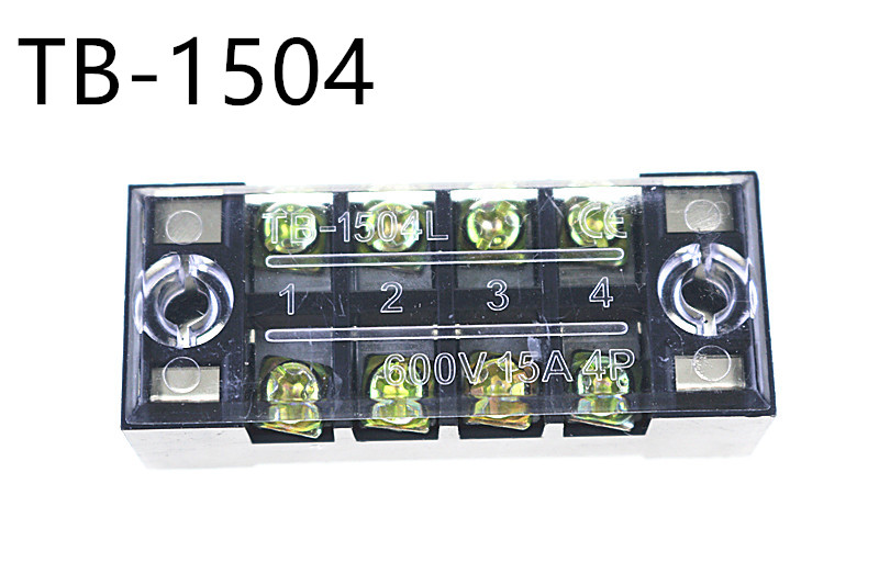 terminal blocks tb 1504 15a 4p patch panel wiring row. Black Bedroom Furniture Sets. Home Design Ideas