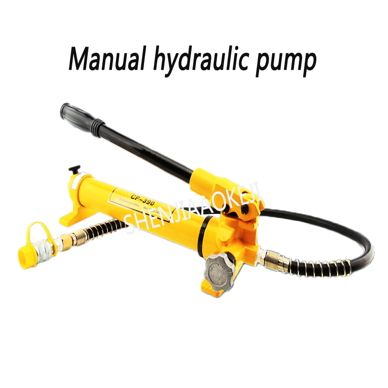 1PC CP-390 Manual hydraulic pump 600kg/cm2 Ultra high pressure pump Manual pump Sealed/no oil leakage commercial manufacture cp 600 cp 180 hand oil pump portable manual hydraulic pump