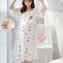 Ночная рубашка для беременных, кормящих грудью, ночная рубашка, одежда для сна, ночная рубашка для мам, Пижама для кормления грудью, платье для беременных