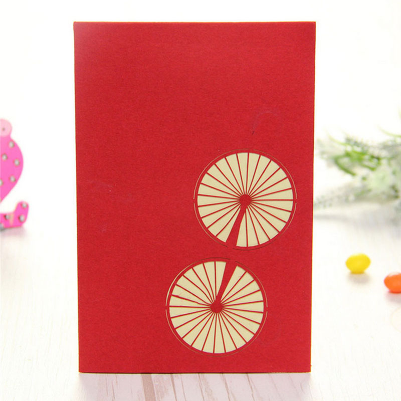3D Pop Up Origami Paper Laser Cut Greeting Cards Creative Handmade ...