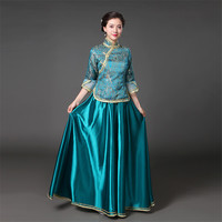 7 Colors Chinese Traditional Ancient Womens Bridesmaid Dress Chinese Style Girls Republic of China Cosplay Costume Clothing