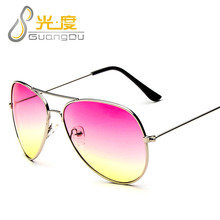 GUANGDU 2017 Fashion Brand Cat Eye Sunglasses Women Glasses Men Mirror Sun Glasses Female Glasses Sunglasses Oculos Gafas 3025