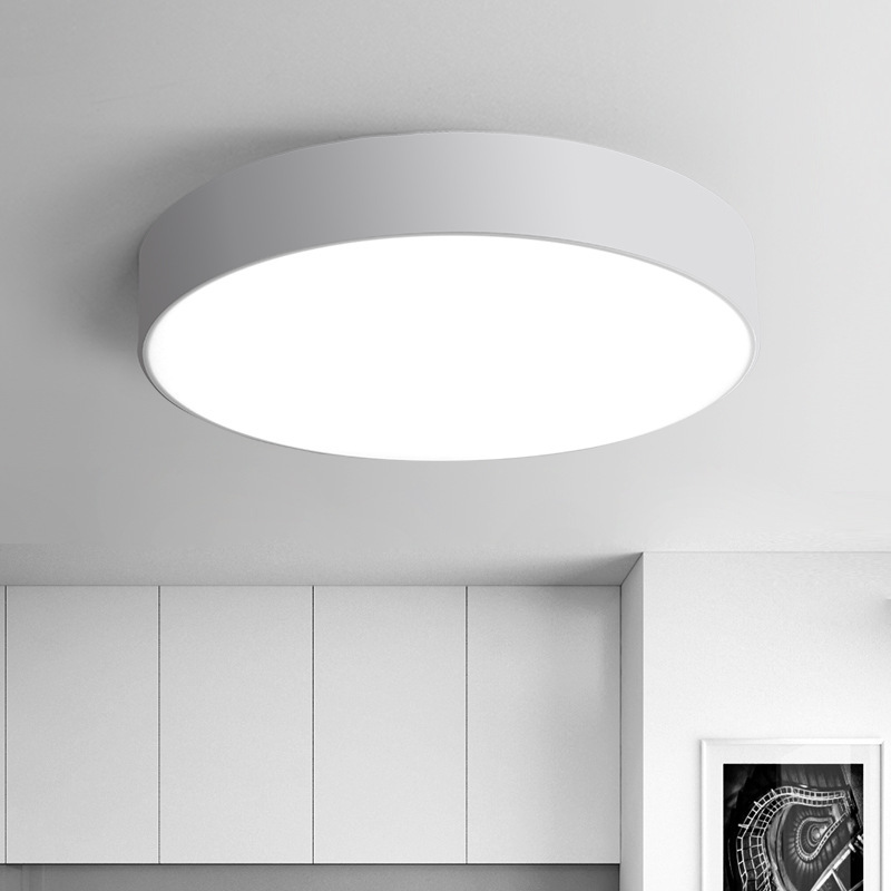 Modern LED Ceiling Light Black White Acrylic Round LED Ceiling Lamp ...