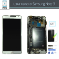 LCD Complete For Samsung Note 3 N900 N900A N900V N9005 N9002 LCD Display Touch Screen Glass Digitizer Frame Bezel Pantalla