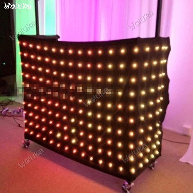 Commercial Lighting Led Video Curtain Dj Anchor Webcast Wedding Bar Disco Dynamic Background Wall 2*3/2*4/3*6/*4*6m Cd50 W03 Possessing Chinese Flavors Lights & Lighting