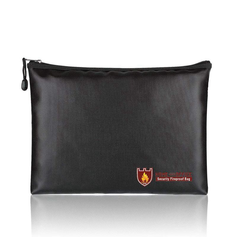 Fireproof Document Bags, A4 Size Waterproof And Fireproof Bag With Fireproof Zipper For IPad, Money, Jewelry, Passport, Docume