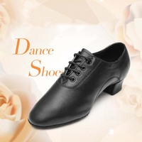 2019 New Hot Sale Modern Men's Ballroom Latin Tango Dance Shoes man Salsa heeled black dancing shoes