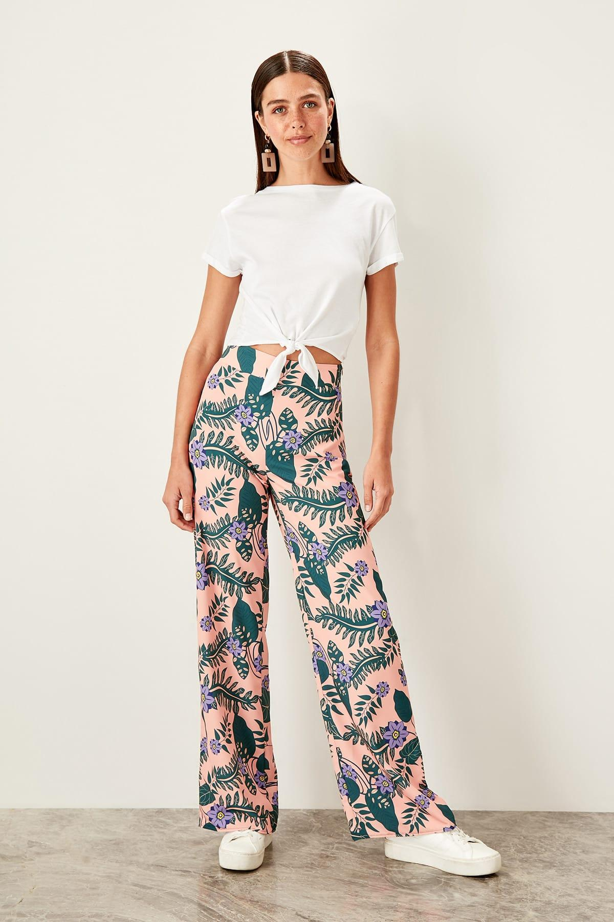 Trendyol Multi Color Flare Pants TWOSS19LJ0368