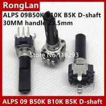 [BELLA]Japanese ALPS potentiometer R09 tuning Taipower Locator single joint B5K B10K B50K 30MM shank half–50pcs/lot