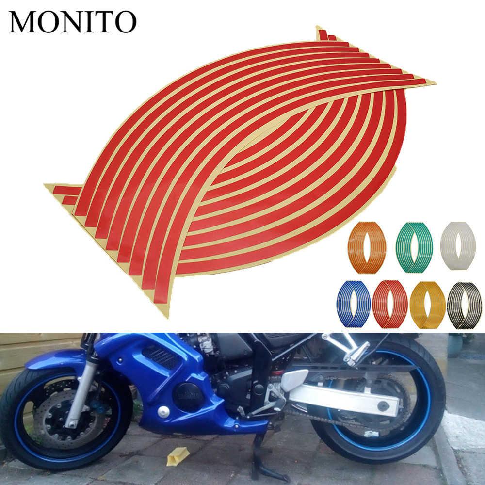 Adhesivo para rueda de motocicleta, calcomanías reflectantes, tira de cinta para llanta para kawasaki YAMAHA YZF R25 R15 R6 R125 z750 Z800 FZ8 FZ1 FZ6R ER-6N