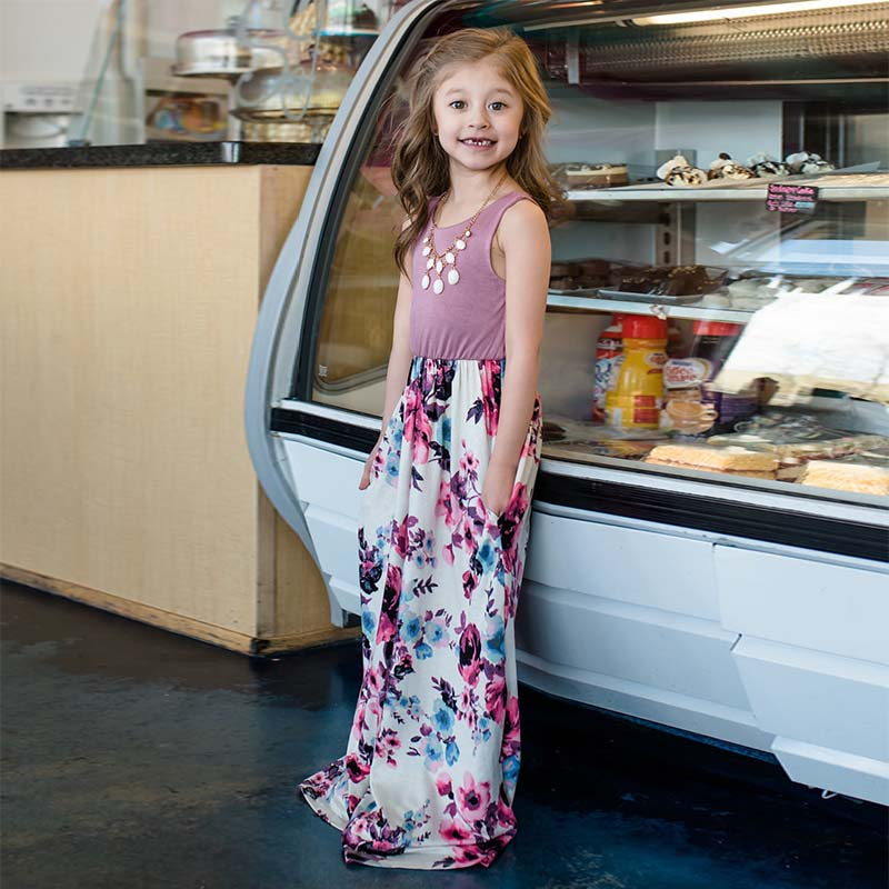 e0db1c6b22afb Mother daughter dresses Floral Vestido Largo Family matching clothes Mother  and daughter clothes mom and daughter dress | Mikes Wholesale Mart