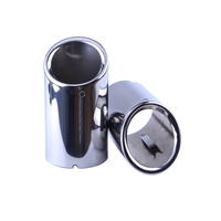 SPEEDWOW 1 Pair Stainless Steel Car Exhaust Muffler Pipe Tips Chrome Trim Muffler Tail Tip For Audi A4 A5 Q5 Free Shipping