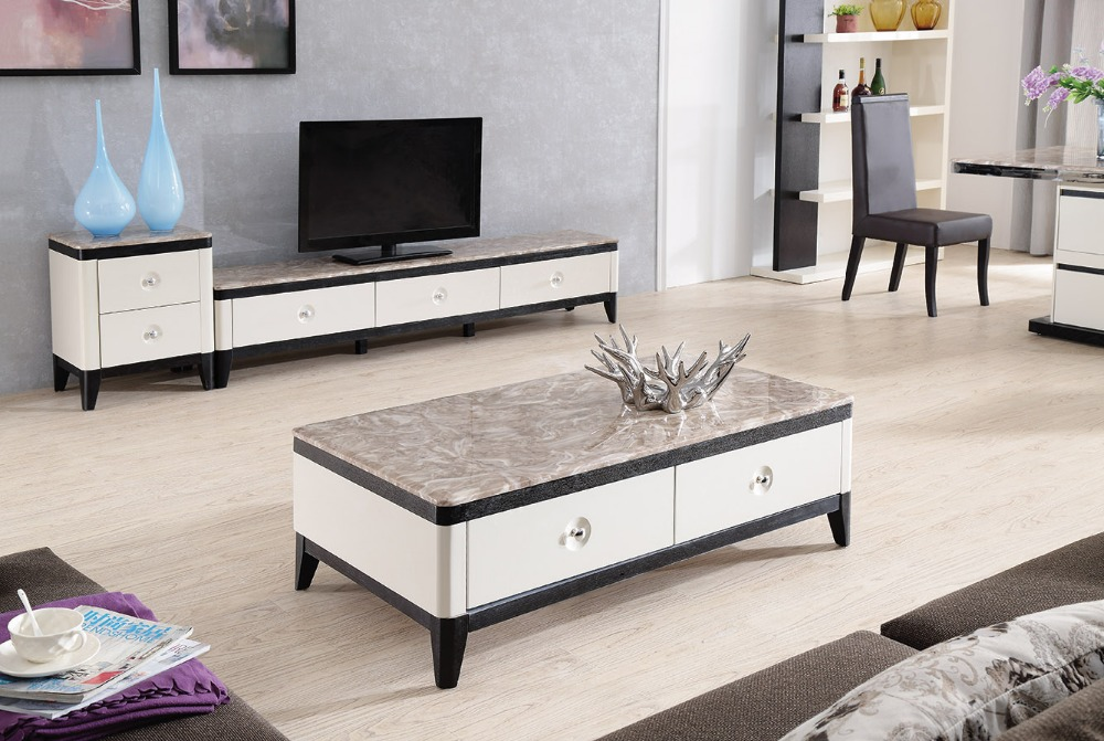 Online Shop Lizz contemporary white living room furniture TV stand