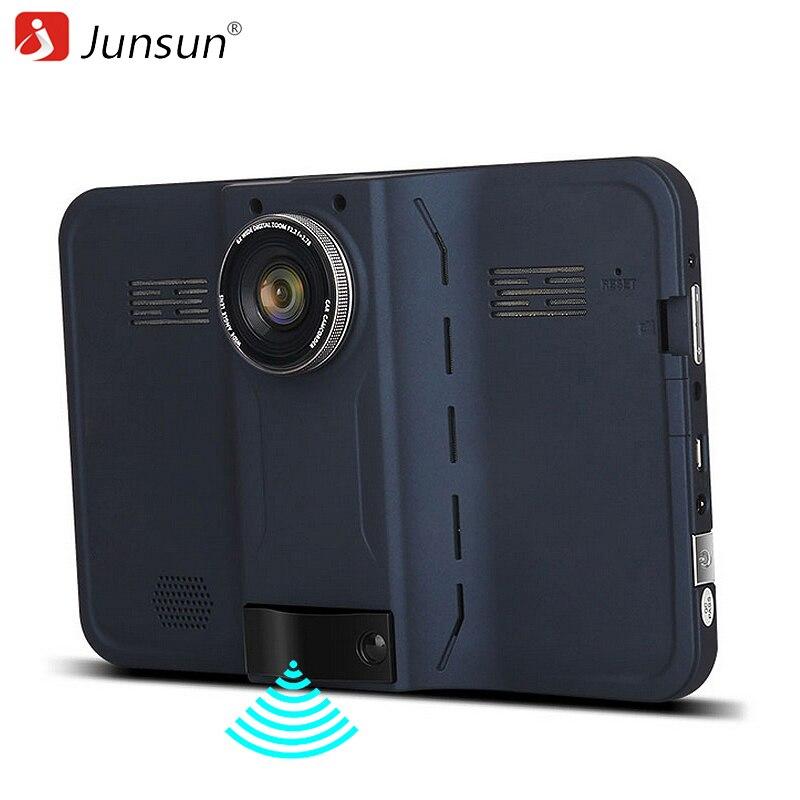 imágenes para Junsun 7 pulgadas Android de Navegación GPS Del Coche 16 GB DVR Videocámara Cámara de Vista Trasera con Detector de Radar Navegante de Mapas de Por Vida