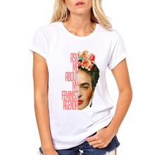 Hot Sale Cartoon Mexican Frida Kahlo T Shirt Short Sleeve Women T-shirt Novelty Tee Frida Kahlo Printed Casual Shirts