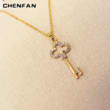CHENFAN Trendy womens necklace fashion female jewelry wholesale gold stone statement necklaces pendants  chain