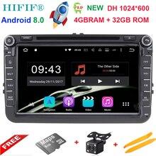 Android 8,0 авто радио dvd-плеер автомобиля для Volkswagen VW GOLF PASSAT B6 JETTA поло CC TIGUAN OCTAVIA T5 gps-навигация мультимедиа